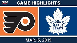 NHL Highlights | Flyers vs Maple Leafs – Mar 15, 2019