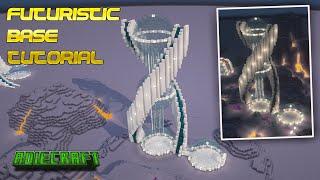 Minecraft Futuristic Spiral Base - FULL TUTORIAL - How to build a Minecraft Futuristic Base