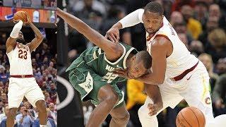 LeBron James 30 Pts, Kevin Love 32, Giannis 40! Bucks vs Cavs 2017-18 Season