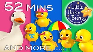 Five Little Ducks | Part 2 | Plus Lots More Nursery Rhymes | 52 Mins Compilation from LittleBabyBum!