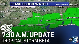 7:30 AM UPDATE: Tropical Storm Beta causes widespread flooding