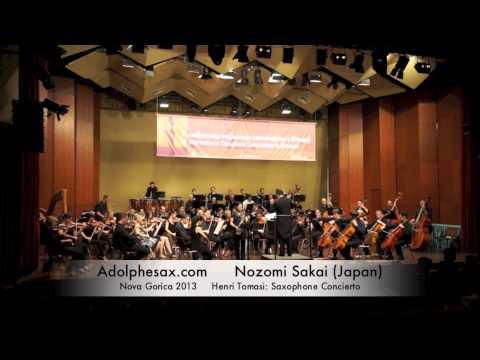 Nozomi Sakai - Nova Gorica 2013 - Henri Tomasi: Saxophone Concierto