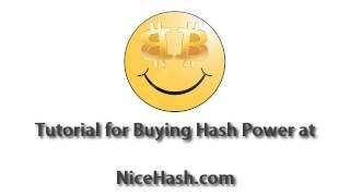 NiceHash how to buy hashing power Quick-Start