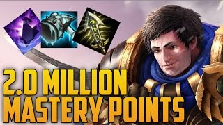 SILVER Garen 2,000,000 MASTERY POINTS- Spectate 2nd Highest Mastery Points on Garen