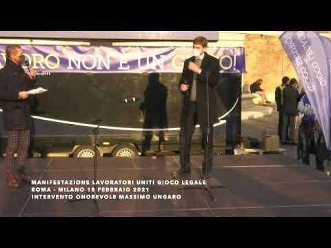 on. Massimo Ungaro alla manifestazione del gioco pubblico