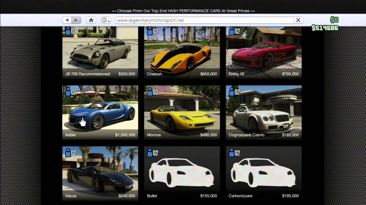 gta 5 online comment avoir une voiture gratuite. Black Bedroom Furniture Sets. Home Design Ideas