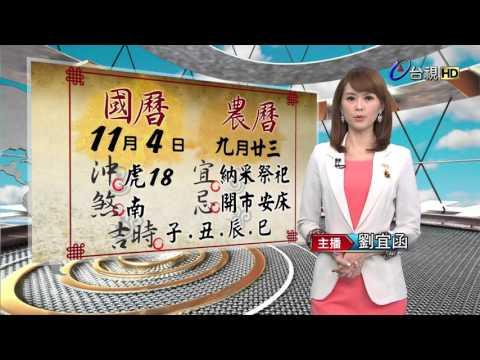 2015.11.04 台視主播  劉宜函