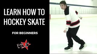 Vinnie Langdon: How To Hockey Ice Skate for Beginners!