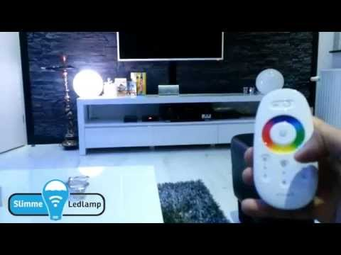 Wifi led lampen(RGB) bedienen met RF Afstandsbediening Demonstratie