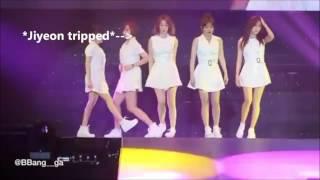 Những lúc vui , bùn và cute của Jiyeon T-ARA khi biểu diễn trên sân khấu