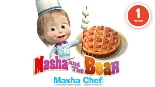 Masha and The Bear - Cooking and eating in the kitchen with Masha! Cartoons about food 2016