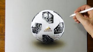 Drawing - 2018 FIFA World Cup Ball (Telstar 18)