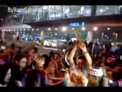 رنا سماحة - استقبال رنا أمام مطار القاهرة وسط جمهورها