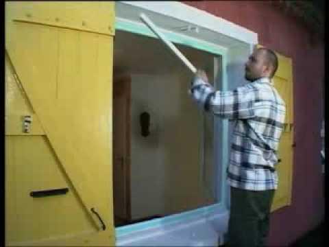 installation d 39 une fen tre pvc en r novation youtube. Black Bedroom Furniture Sets. Home Design Ideas
