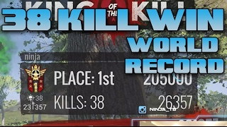 38 Kill Solo Win! (H1Z1 World Record!)