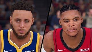 NBA 2K20 - Golden State Warriors vs. Houston Rockets - Full Gameplay