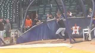 DJ LeMahieu...batting practice...Rockies vs. Astros...8/14/18