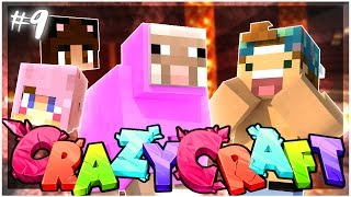 I TELEPORTED TO YAMMY AND LIZZIE'S WORLD?! | EP 9 | Crazy Craft 3.0 (Minecraft Youtuber Server)