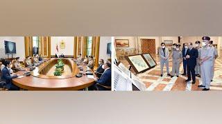 الرئيس السيسي يتابع الموقف الإنشائي والهندسي لعدد من المشروعات
