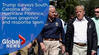 President Donald Trump surveys South Carolina following Hurricane Florence