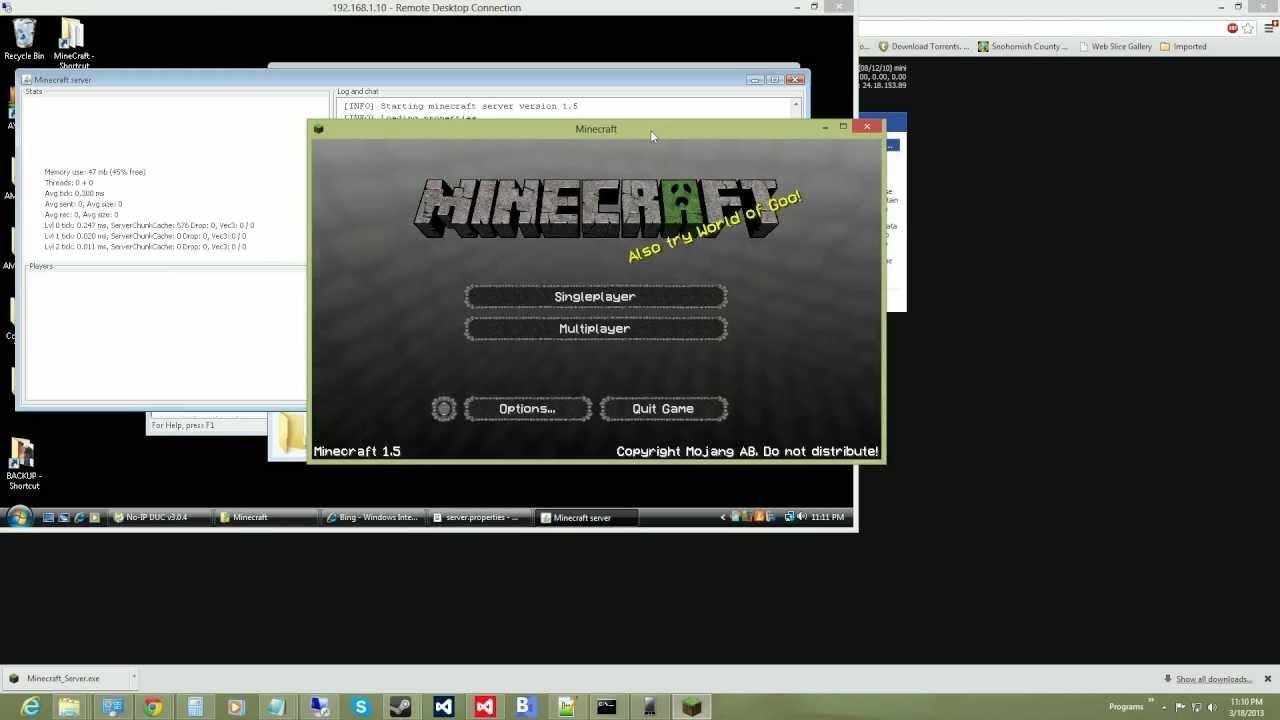 Minecraft.net dedicated server a