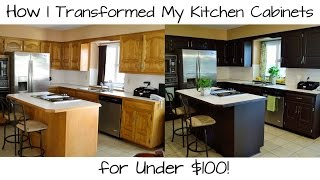 How I Transformed My Kitchen Cabinets for Under $100!