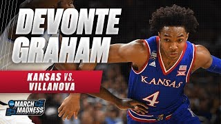 Kansas' Devonte' Graham dropped 23 points in the Final Four