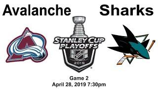 Colorado Avalanche vs San Jose Sharks Game 2 Live Reaction + Chat