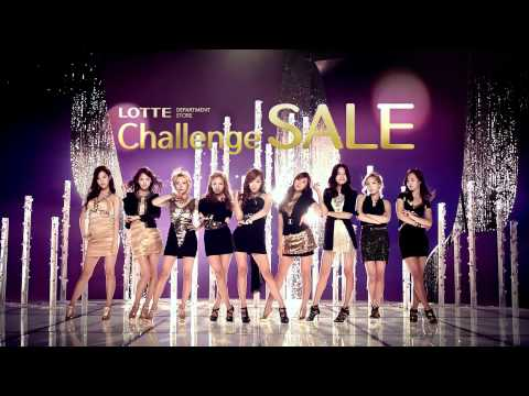 SNSD CF [full] Lotte Department store Challenge SALE Apr 5, 2012 GIRLS' GENERATION