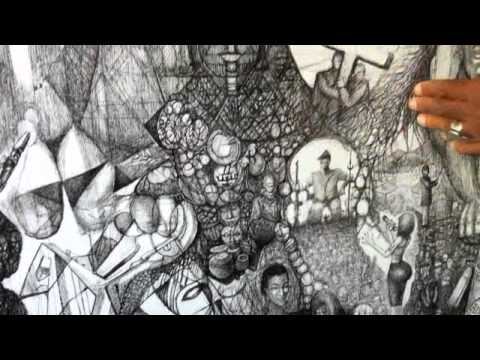 "Hampton Olfus ""Panoramic Paradox"" - Pen and Ink"