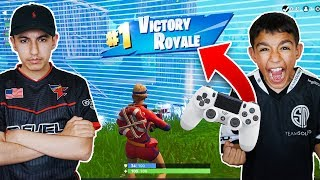 Pc Pros Playing Fortnite On Console For The First Time With Little Brother!