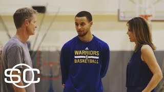 Warriors' Steph Curry And Steve Kerr Have A Free Throw Rivalry | SportsCenter | ESPN Archives