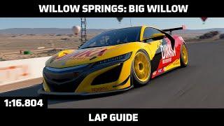 Gran Turismo Sport - Daily Race Lap Guide - Willow Springs: Big Willow (Honda NSX Gr. 4)