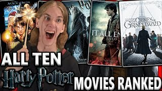 All 10 Harry Potter Movies Ranked From Worst to Best (w/ Fantastic Beasts 2)