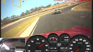 Andrew Inglis takes his ALFA 105 GTV 2000 for a lap at Sydney Motorsport Park (SMP) South Circuit