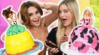 PRINCESS CAKE DECORATING CHALLENGE! w/ iJustine!