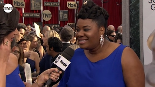 Adrienne C Moore I SAG Awards Red Carpet 2016 I TNT
