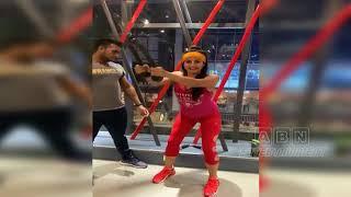 Sardaar actress Sanjana Galrani's super workout video..