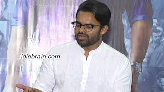 Sai Dharam Tej interview about Inttelligent Movie..