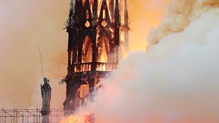 Fire engulfs Notre-Dame Cathedral, collapsing spire and roof