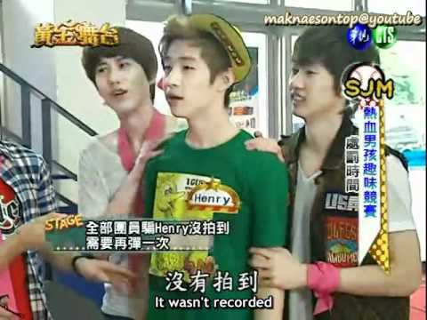 110528 Golden Stage cut #3: KyuWook gang up on Henry [eng sub]