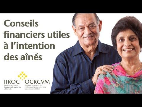 VIDÉO : Conseils financiers utiles à l'intention des aînés