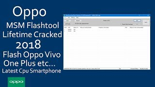 How To Flash Oppo R7 Series Via QFIL Tool Qualcomm | Unbrick