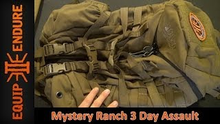 WOW! Best Bug Out Bag Design! Mystery Ranch 3 Day Assault Pack Overview by Equip 2 Endure