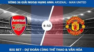 Big Bet - Dự đoán tỉ lệ trận đấu Arsenal - Manchester United (Vòng 36 PL)