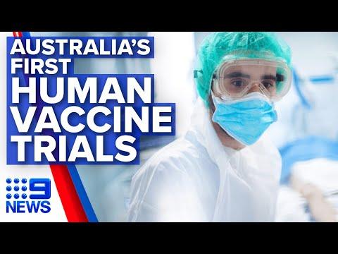 Coronavirus: Australia's first COVID-19 vaccine trials to begin | Nine News Australia