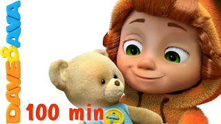 Teddy Bear, Teddy Bear, Turn Around | Nursery Rhymes for Kids and Children | Baby Song Dave and Ava - YouTube