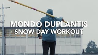Mondo and Antoine Duplantis - Snow Day Workout