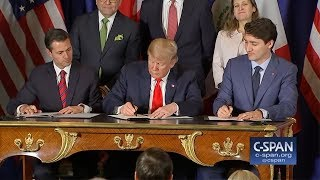 World Leaders Visibly Confused As Trump Struggles to Sign His Name
