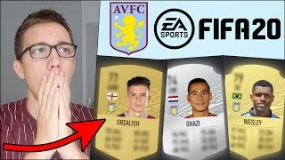 OFFICIAL FIFA 20 ASTON VILLA RATINGS REVEALED! MY REACTION...